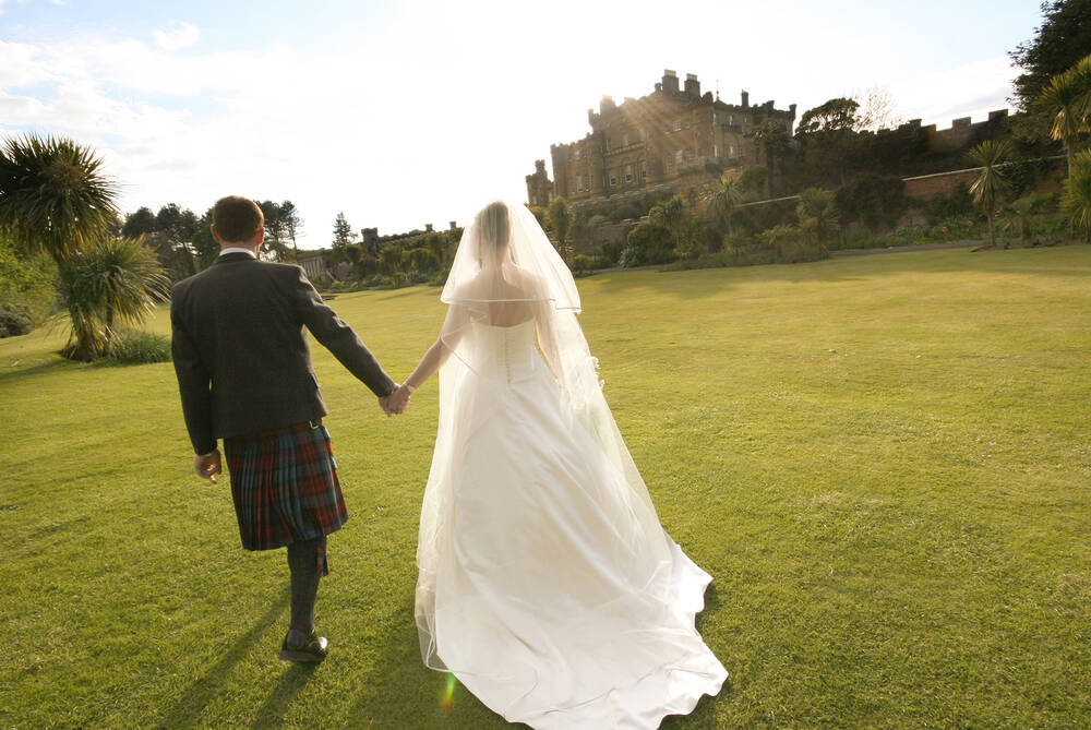 Married couple at Culzean Castle
