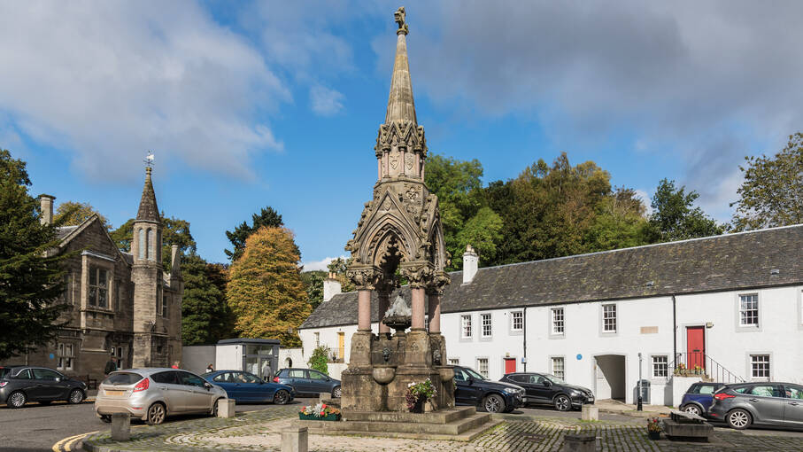 The Atholl Memorial Fountain on Market Cross in Dunkeld