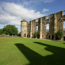 The East Range ruins stand in the Falkland Palace gardens