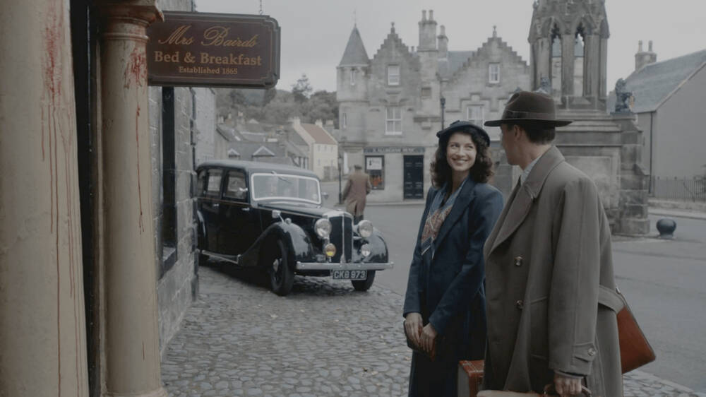 Outlander scene set in Falkland