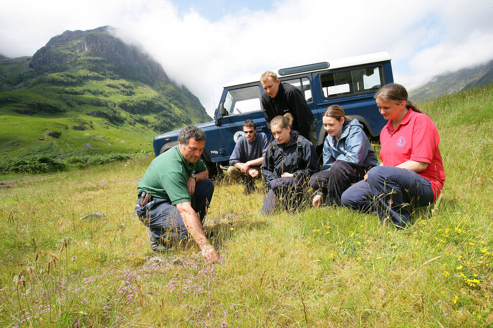 Visitors on the Land Rover Safari at Glencoe