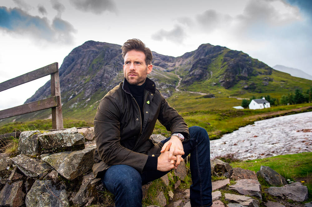 Craig McGinlay by the Lagangarbh cottage in Glencoe
