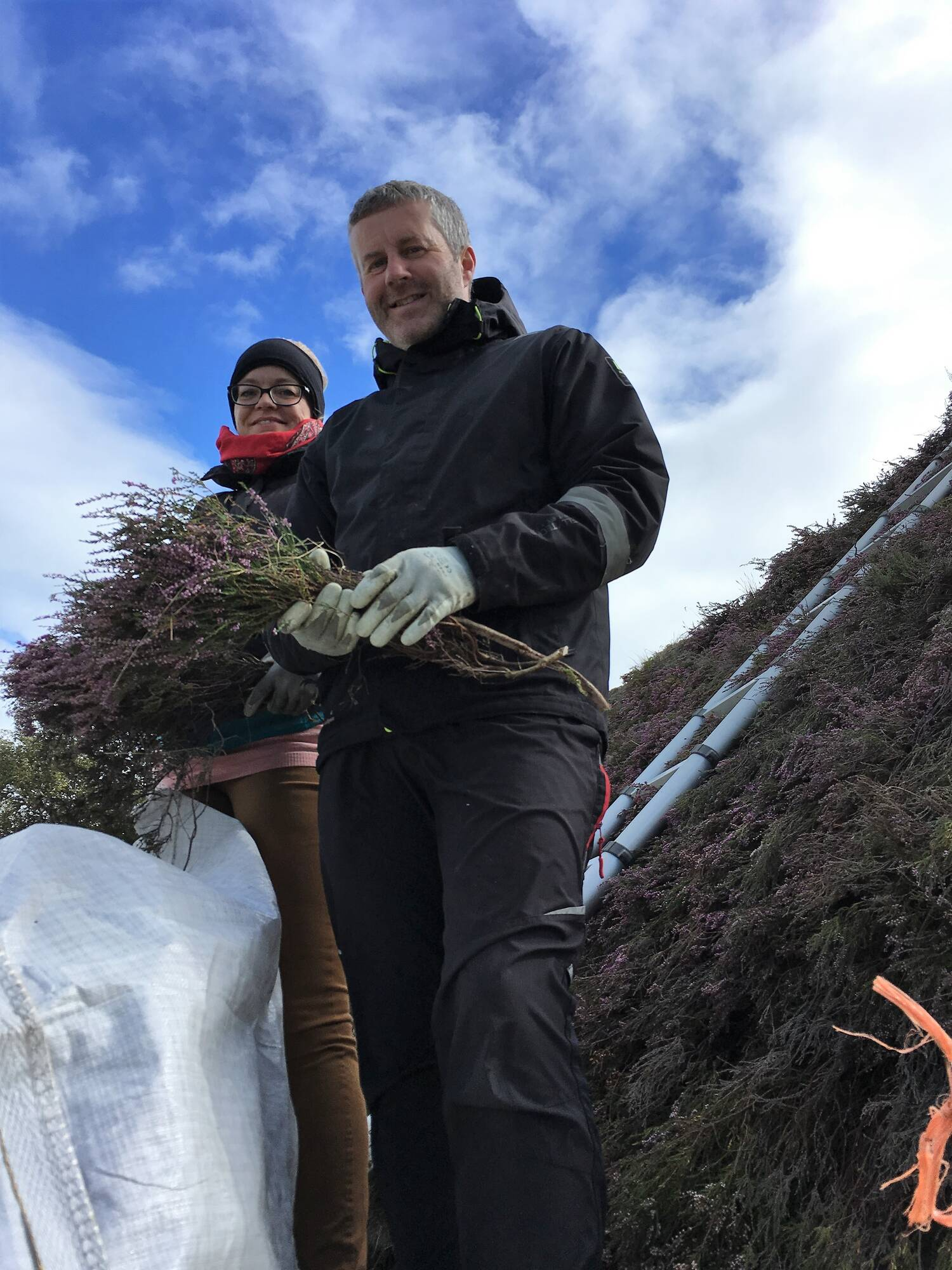 Marion and Neil of Hebridean Thatching Services at Culloden