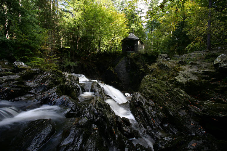 The Black Linn Falls and Ossian's Hall