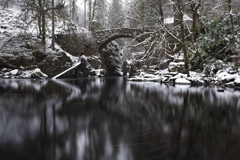 The River Braan in winter