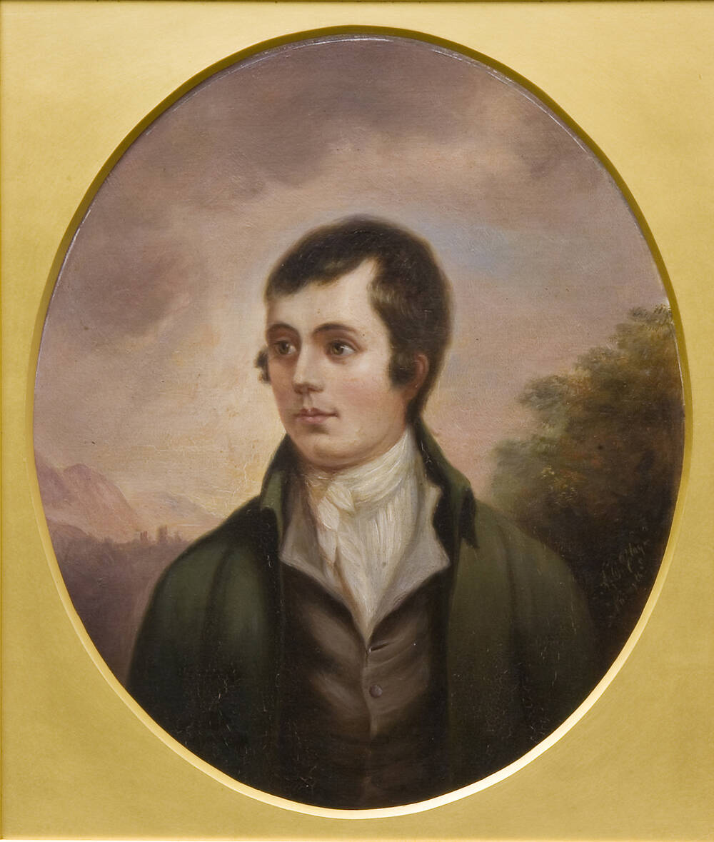 Robert Burns had planned to leave Scotland