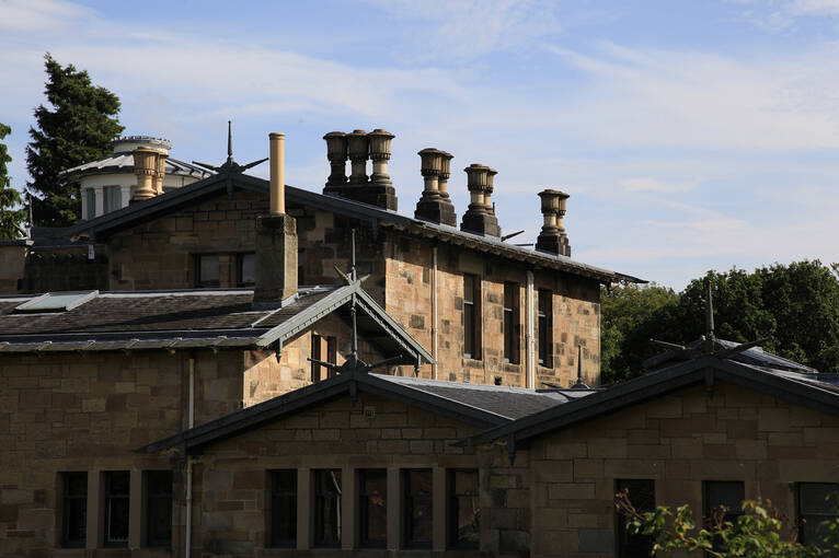 An exterior view of the Holmwood roof and upper floor
