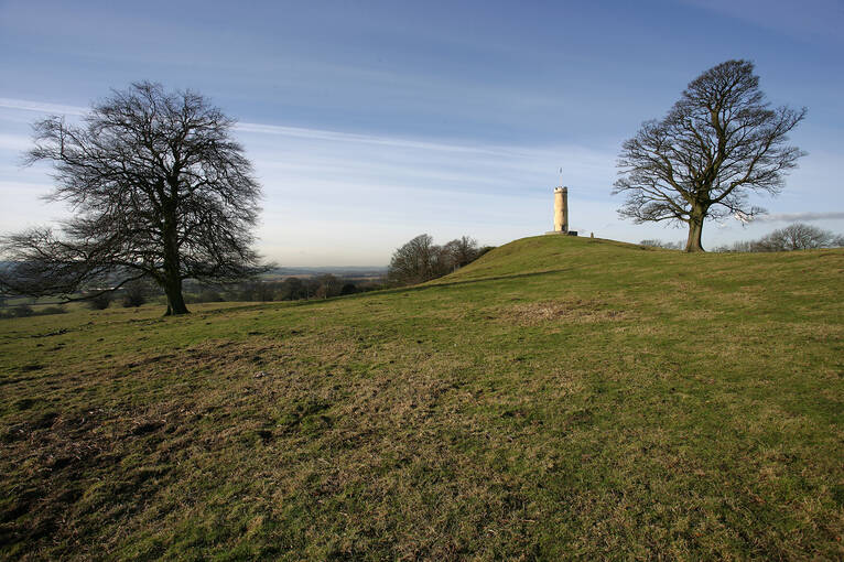 The Binns Tower stands on top of a hill by the House of the Binns