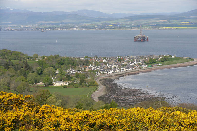 A view of Cromarty Firth and village, home to Hugh Miller's Birthplace Cottage & Museum