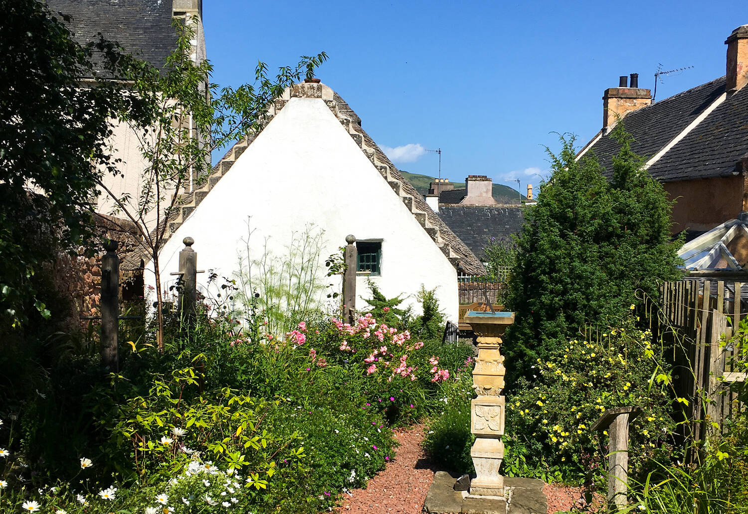 View of Hugh Miller's Birthplace Cottage from the garden