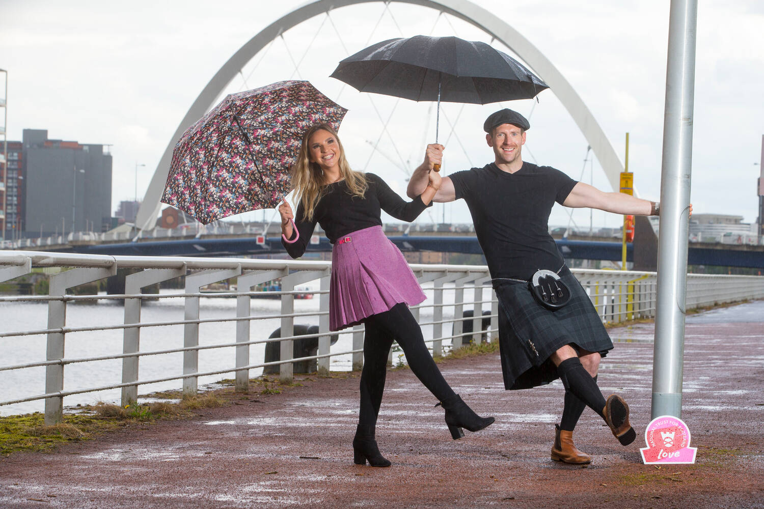 Miss Scotland contender Rachel Flynn and actor Craig McGinlay