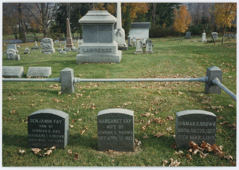 An online search of grave records allowed us to confirm this as the resting place of some of Margaret's ancestors in Old Bennington Cemetery, Vermont.