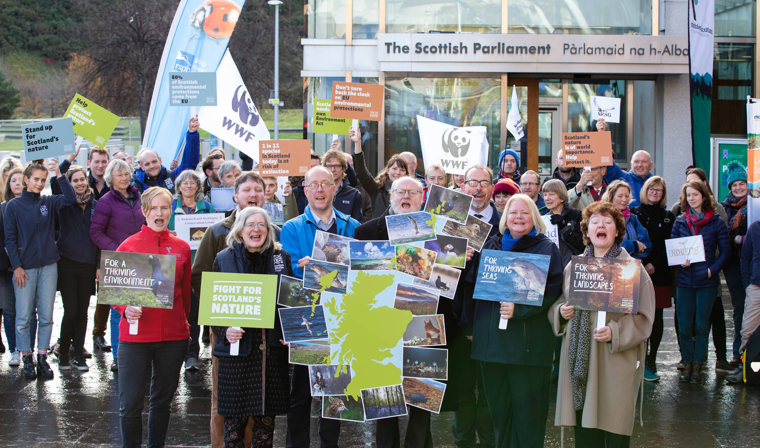 The Trust took part in the launch of the #FightforScotlandsNature at the Scottish Parliament