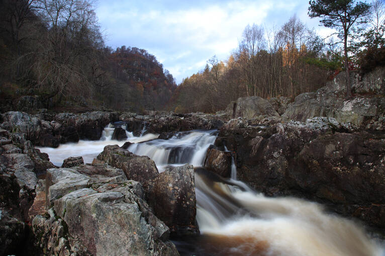 The striking rocky rapids of Linn of Tummel