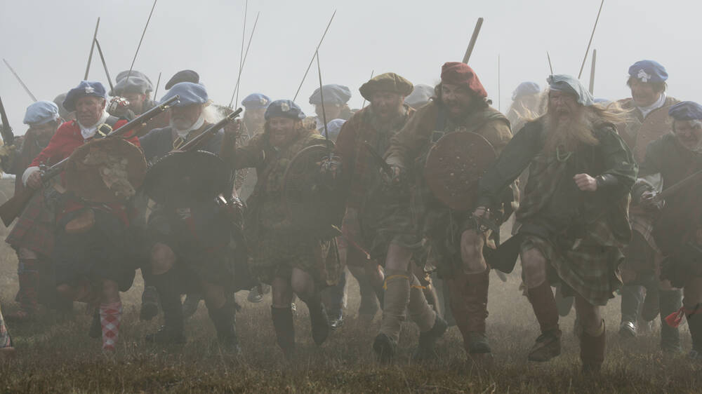 Jacobite re-enactment at Culloden