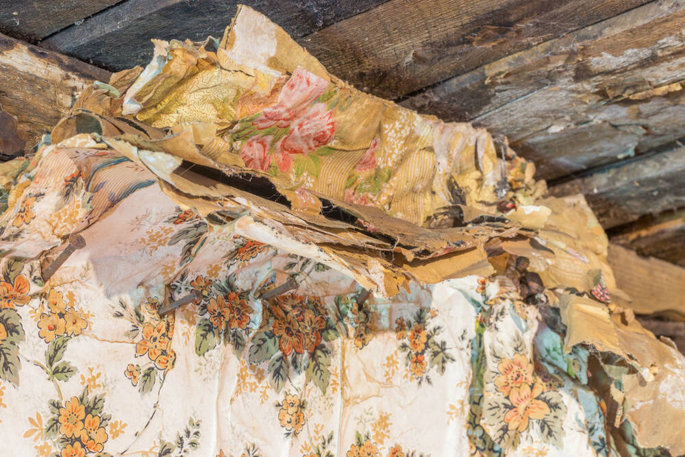 Layers of wallpaper found in Moirlanich Longhouse