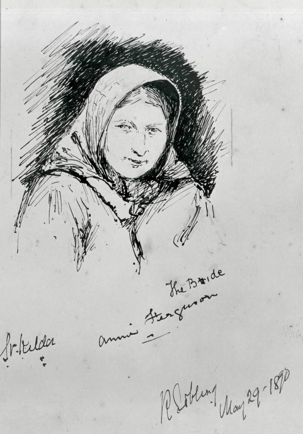 Drawing of Annie Ferguson