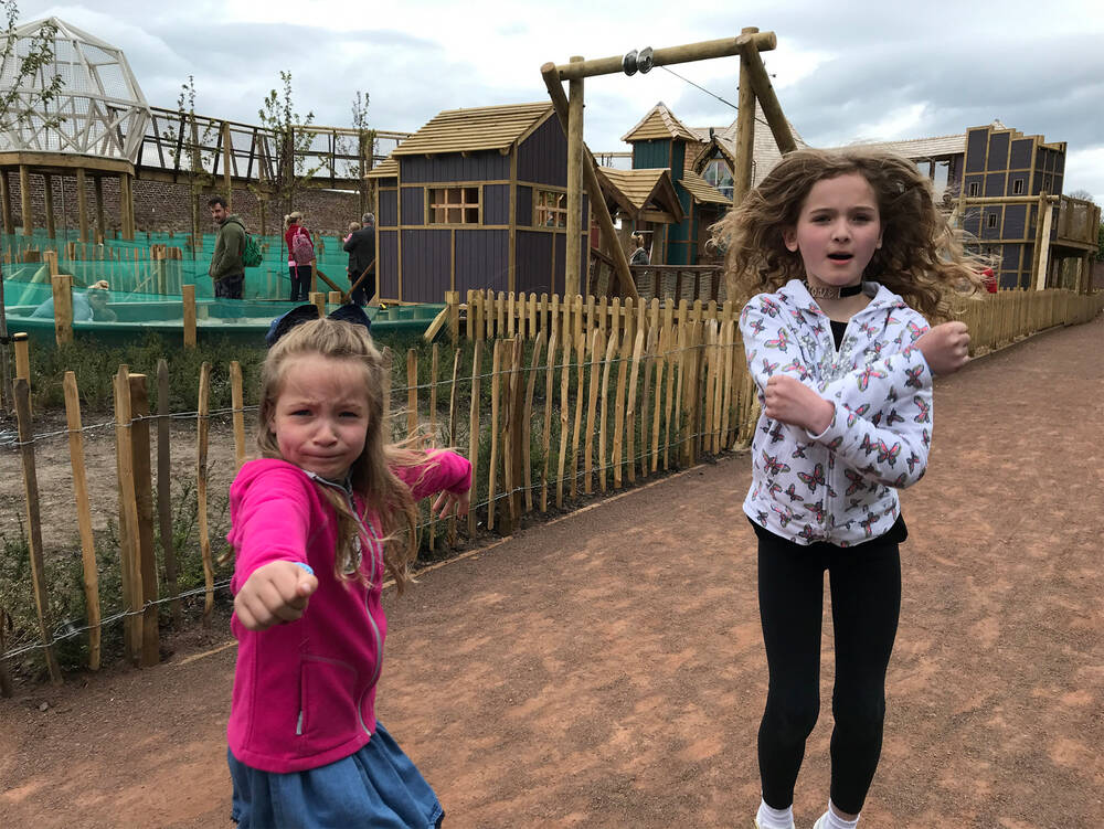 Tara and Emma at Weehailes Playpark