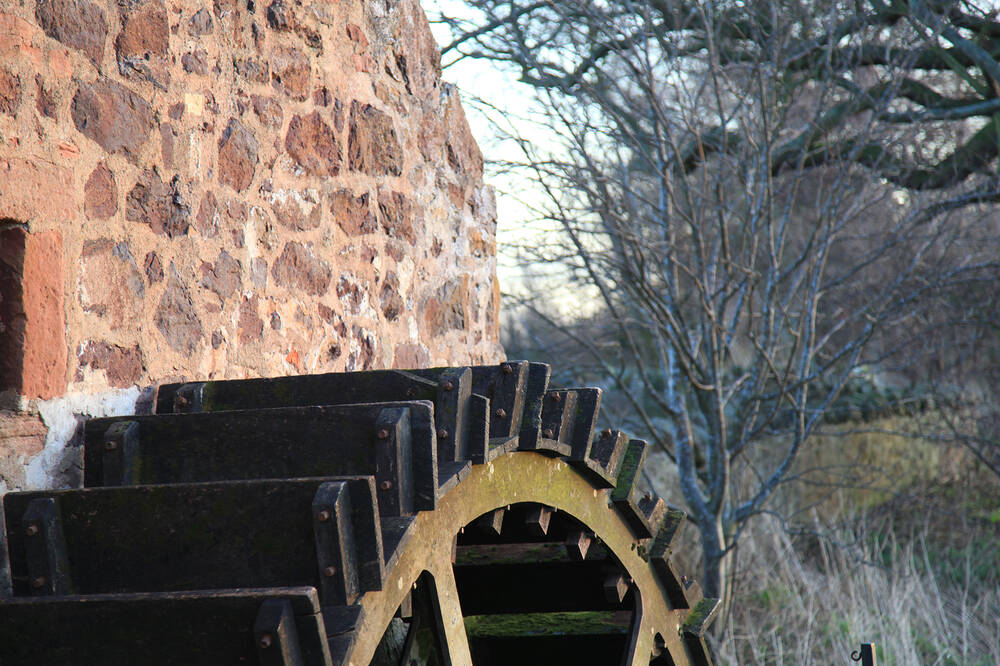 The water wheel at Preston Mill