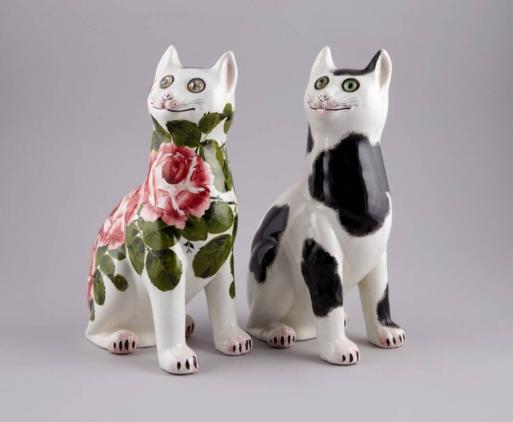 Two Wemyss Ware cats