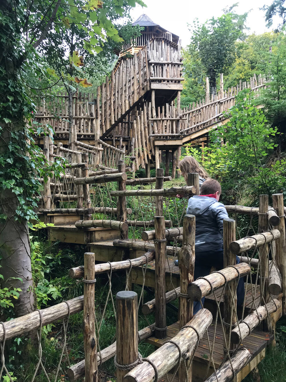 Isle Be Wild adventure playground in Brodick Country Park