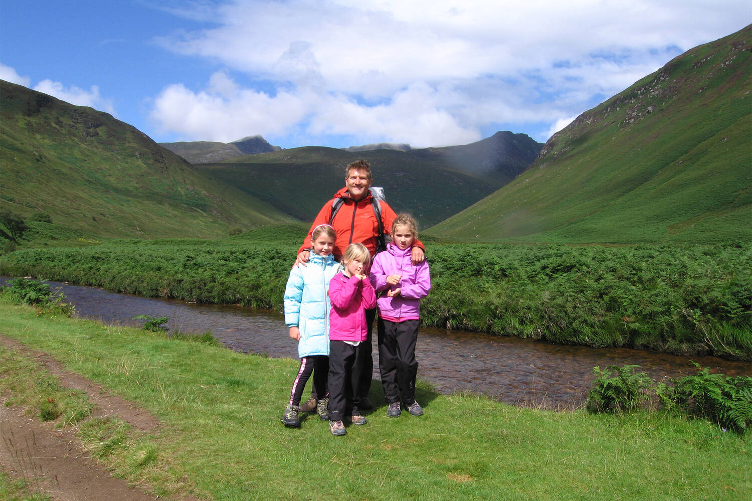 Robin McKelvie and his family in Arran