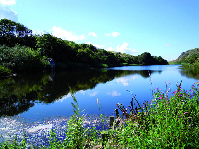 The tranquil waters of the Mire Loch