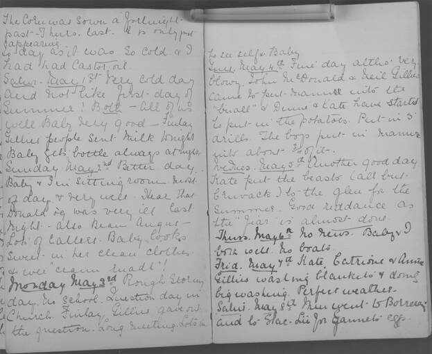 The diary of Alice MacLachlan, 1–8 May 1909