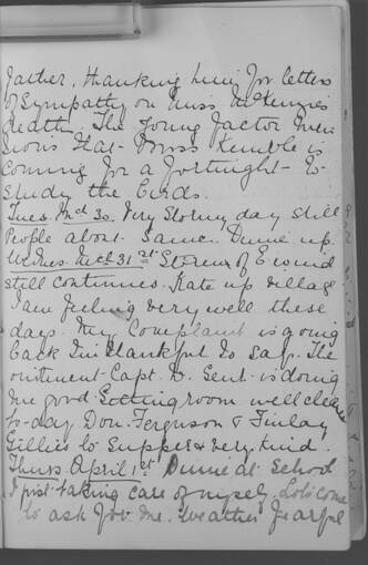 The diary of Alice MacLachlan, 1 April 1909