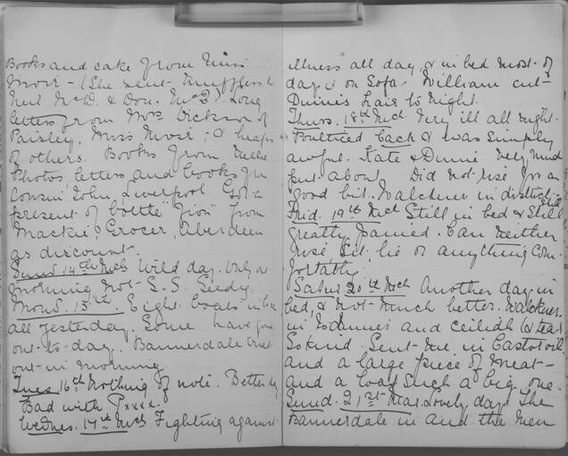 The diary of Alice MacLachlan, from 13 March to 21 March 1909