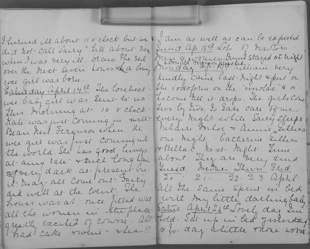 The diary of Alice MacLachlan, 17 - 24 April 1909