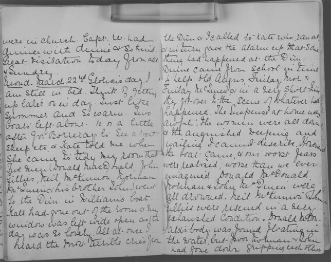 The diary of Alice MacLachlan, 22 March 1909
