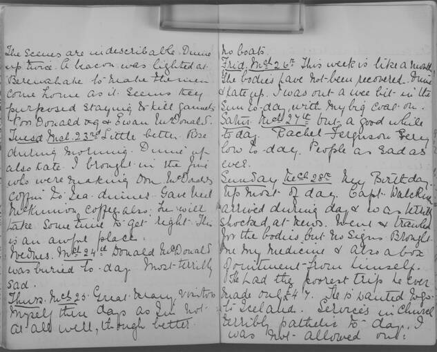 The diary of Alice MacLachlan, 23 to 28 March 1909