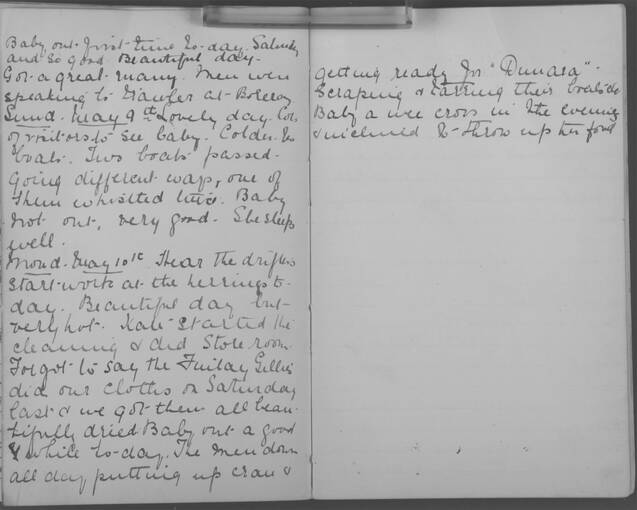 The diary of Alice MacLachlan, 9–10 May 1909