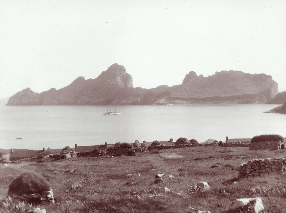 Village Bay on Hirta, St Kilda; photographed by R Milne in 1907