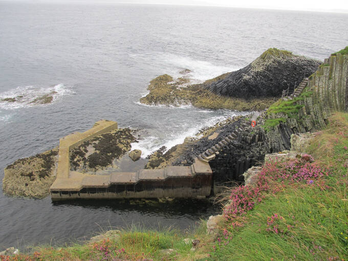 The landing jetty at Staffa