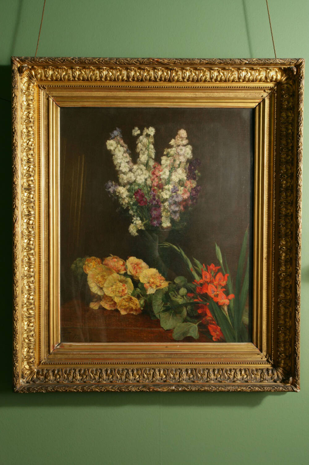 Still-life of flowers by Fantin-Latour in the Library at Hill of Tarvit
