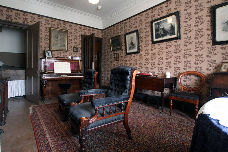 The parlour, which would have been used for special occasions