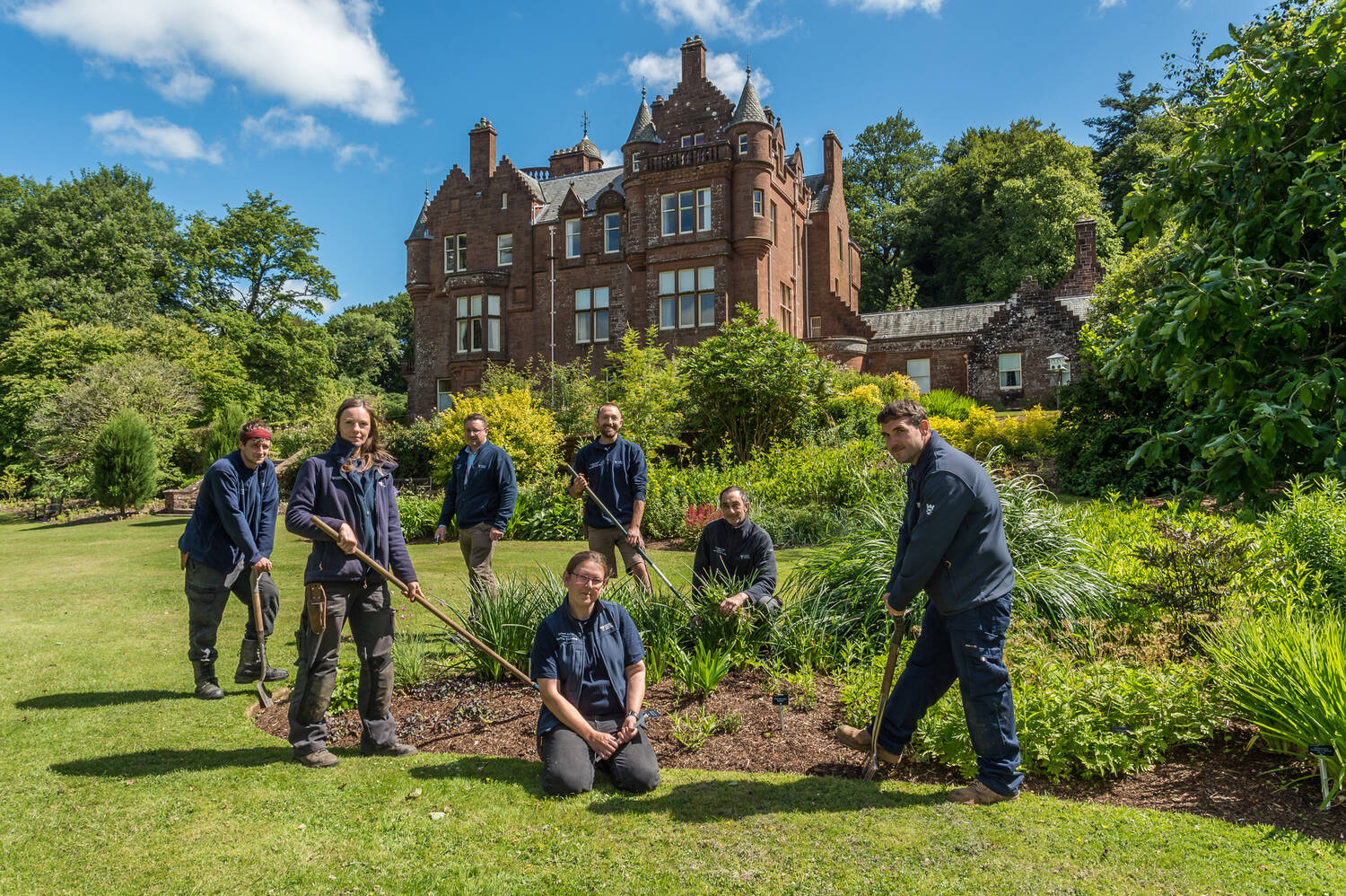 Gardeners at Threave