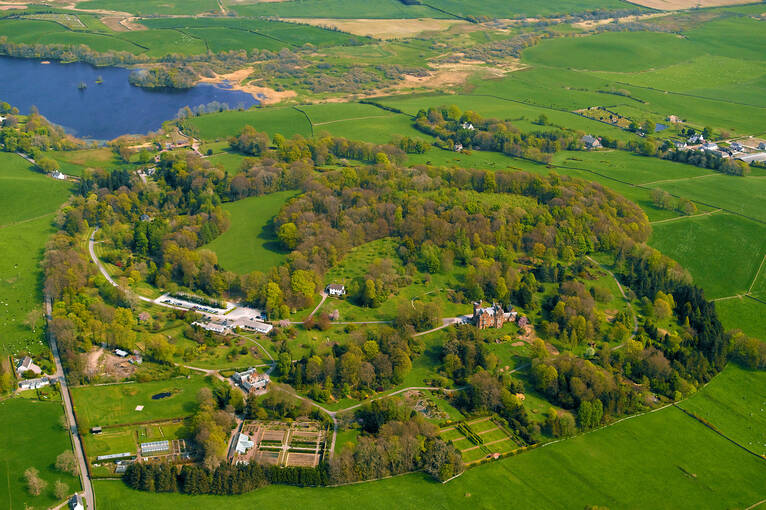 Bird's eye view of Threave Garden