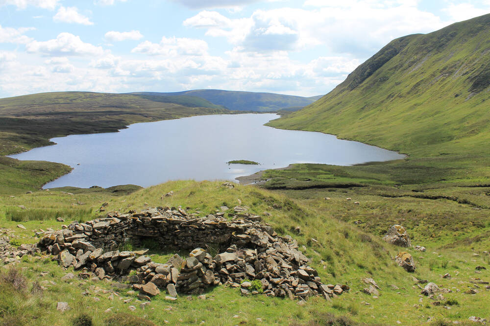 View across Loch Skeen at Grey Mare's Tail Nature Reserve
