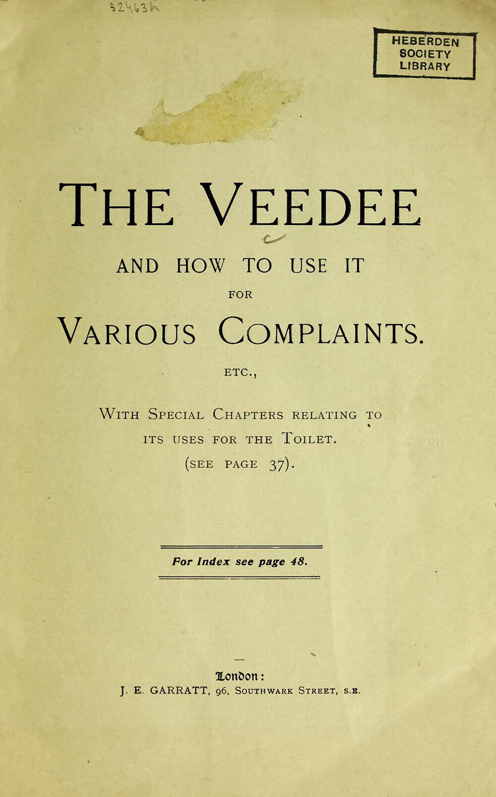 The Vee Dee and how to use it