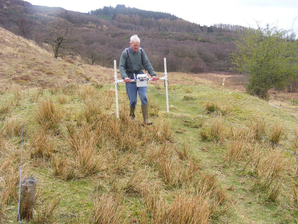Geophysical survey over the bloomery mounds