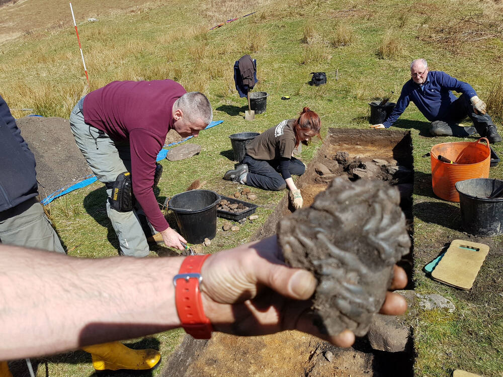 Large lump of iron slag from the excavation