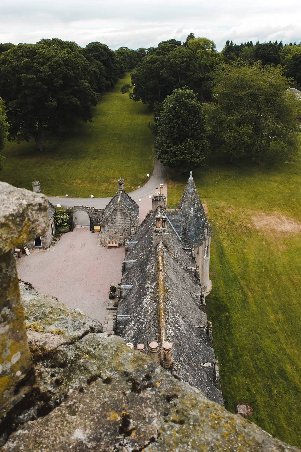 Fantastic views from the top turret at Castle Fraser