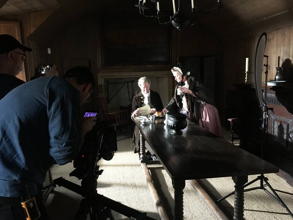 Filming in the High Hall at Culross