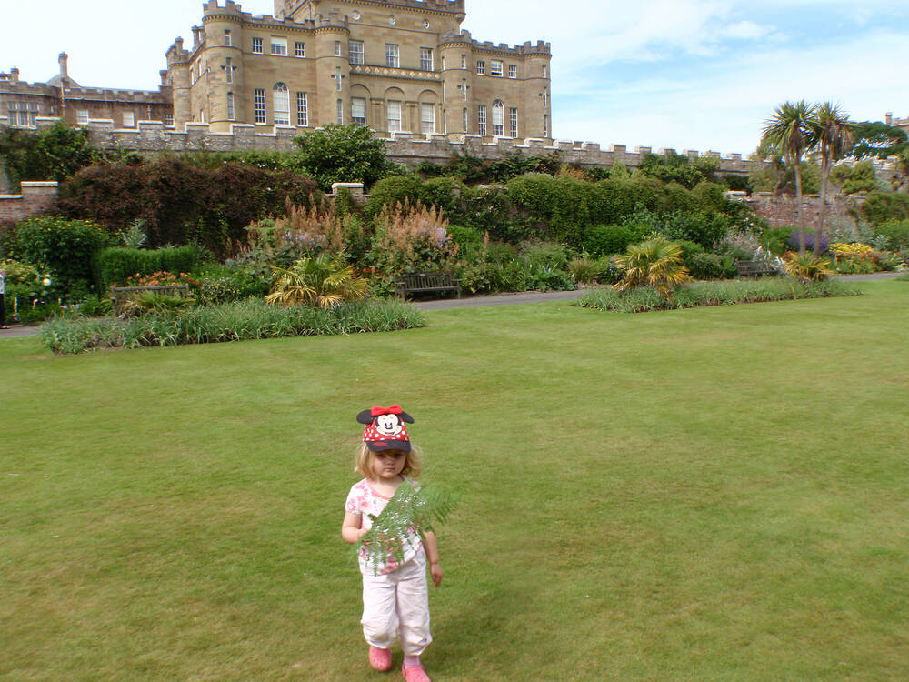 The younger McKelvies exploring Culzean
