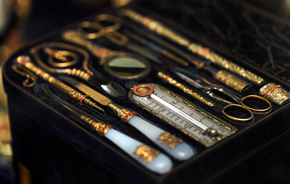 Lady Evelyn Kennedy's dressing case