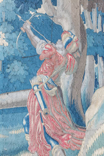 Detail of archer before cleaning