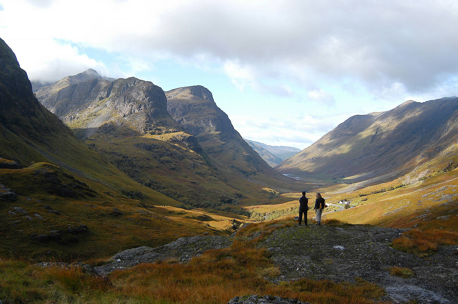 The 3 Sisters mountains at Glencoe